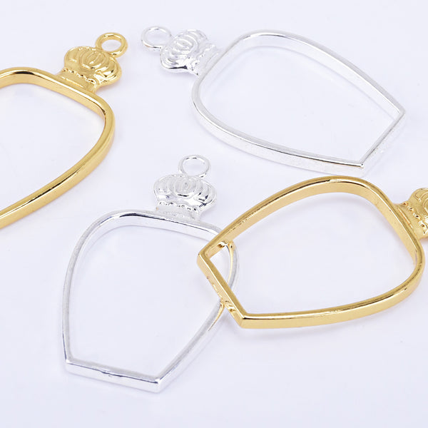 47*26mm Zinc alloy Open Back Pendant open bezel setting Bottle Charms resin charms 10pcs 102320