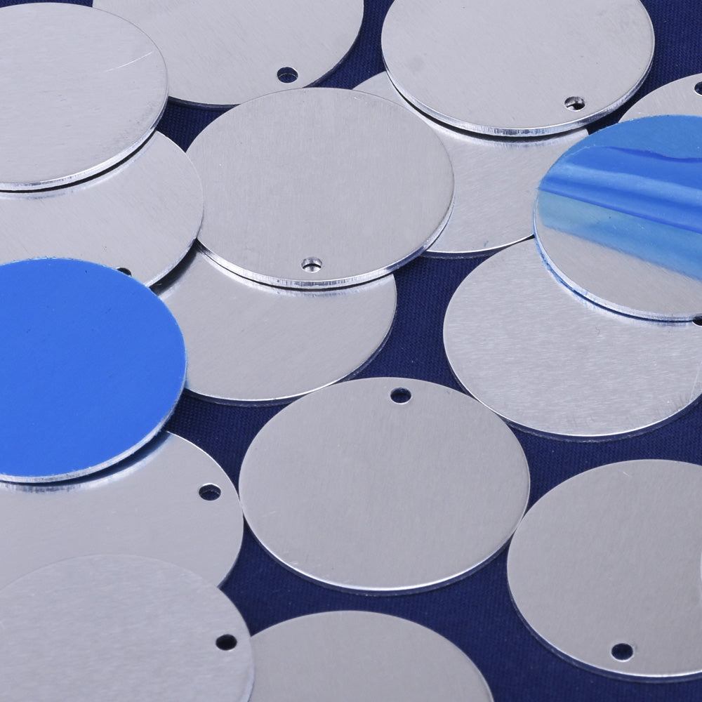 "1"" Aluminum Round Stamping Discs Stamping Blanks Raw Round Charms Stamping Tags 20pcs 10233950"