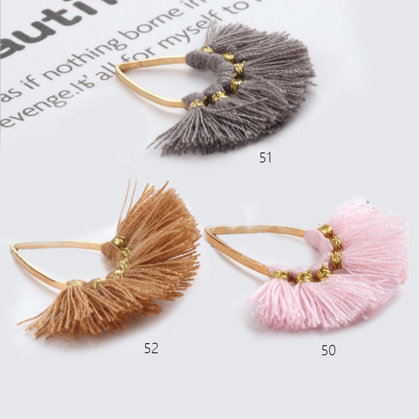 27*31mm BEAUTIFUL Fan Tassels on zinc alloy Findings Small Teardrop Fan Tassels DIY Jewelry 2pcs