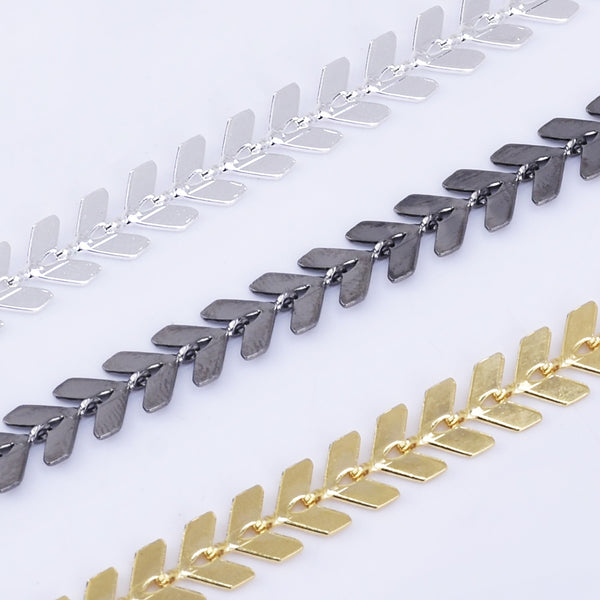 6*7mm Feathered Chevron Chain Copper V shape chain Jewelry Makers Chain Supplies By THE YARD