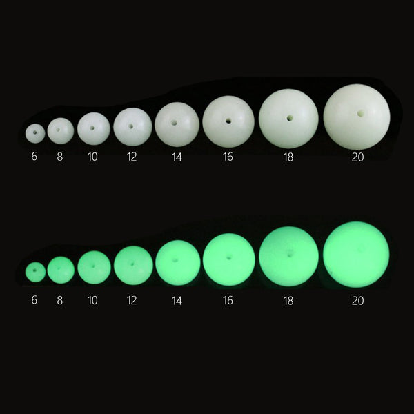 Luminous Beads Glowing spherical stone beads UV Beads Green Glow In the Dark Jewelry 10pcs 102406