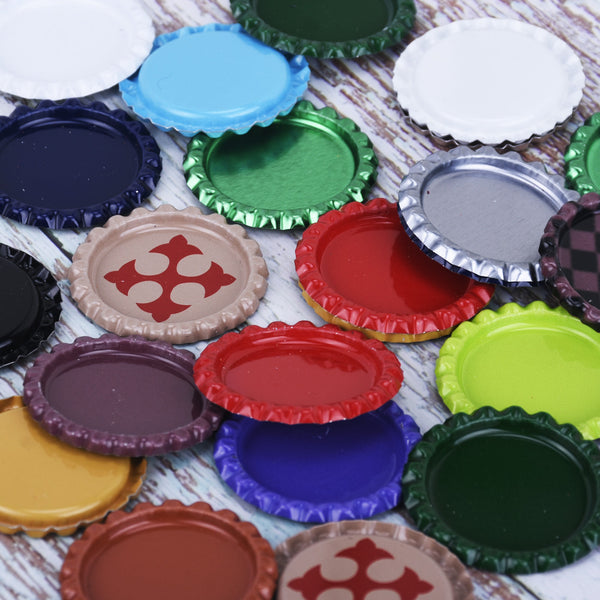 "Flattened 1"" Bottle caps colored no holes Bottlecaps Settings Bottle Cap Jewelry Hairbow Supplies 30pcs 10246549"