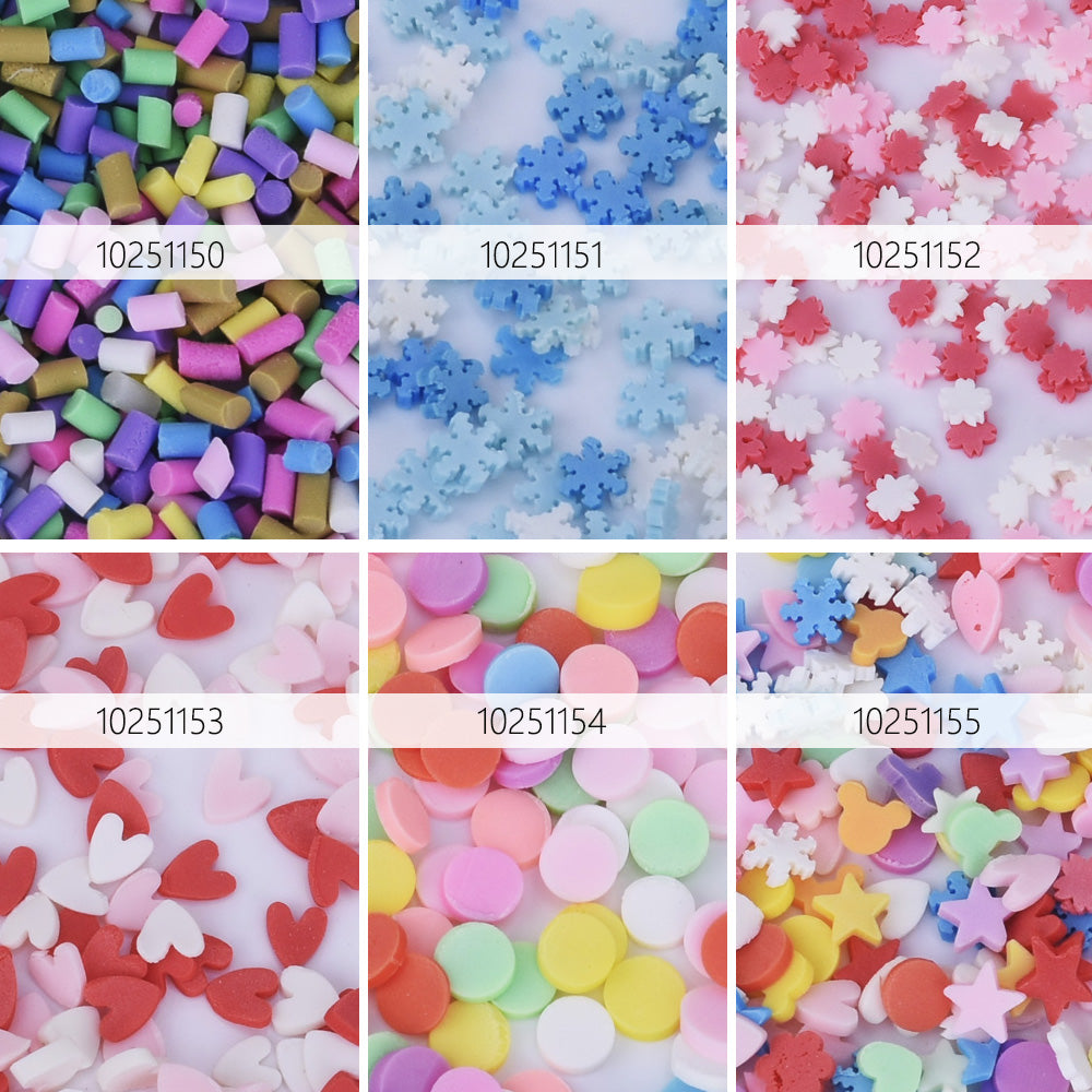 Dessert Candy slices Mixed Sprinkles Polymer Clay Confetti Sprinkles Small Cabochons Fake Food Cell Phone Deco 100grams 1bag 102511