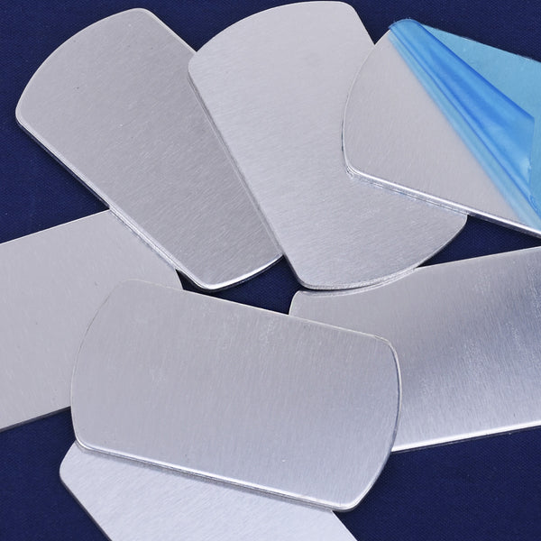 "1 1/8""*2"" Aluminum Stamping Blanks Metal Stamping Blanks Dogtag Stamping Tags Craft Supplies 20pcs 10251550"