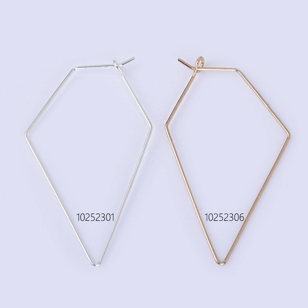 55*30mm Brass Geometric Earring Hoops Earwire Earring Blanks minimalist Wholesale Earrings 20pcs 102523