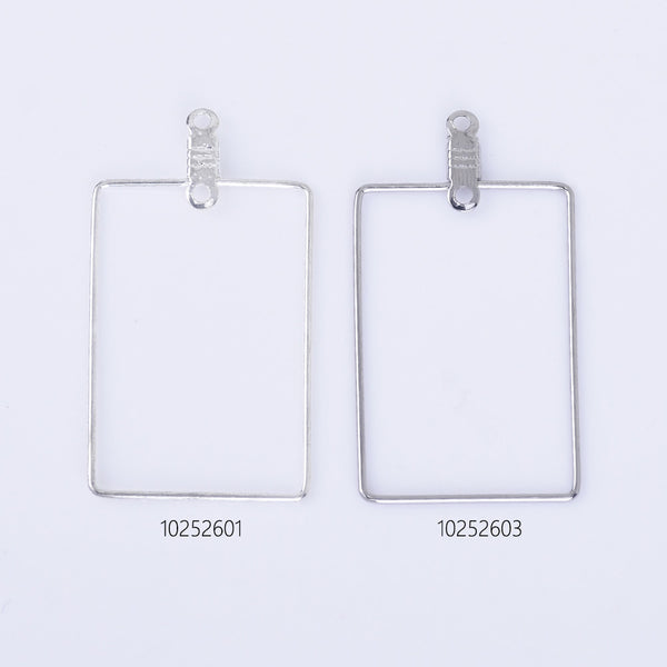 20*30mm Brass Earring Hoops Geometric earrings Rectangle Frame with Center Hanging Ring 20pcs 102526