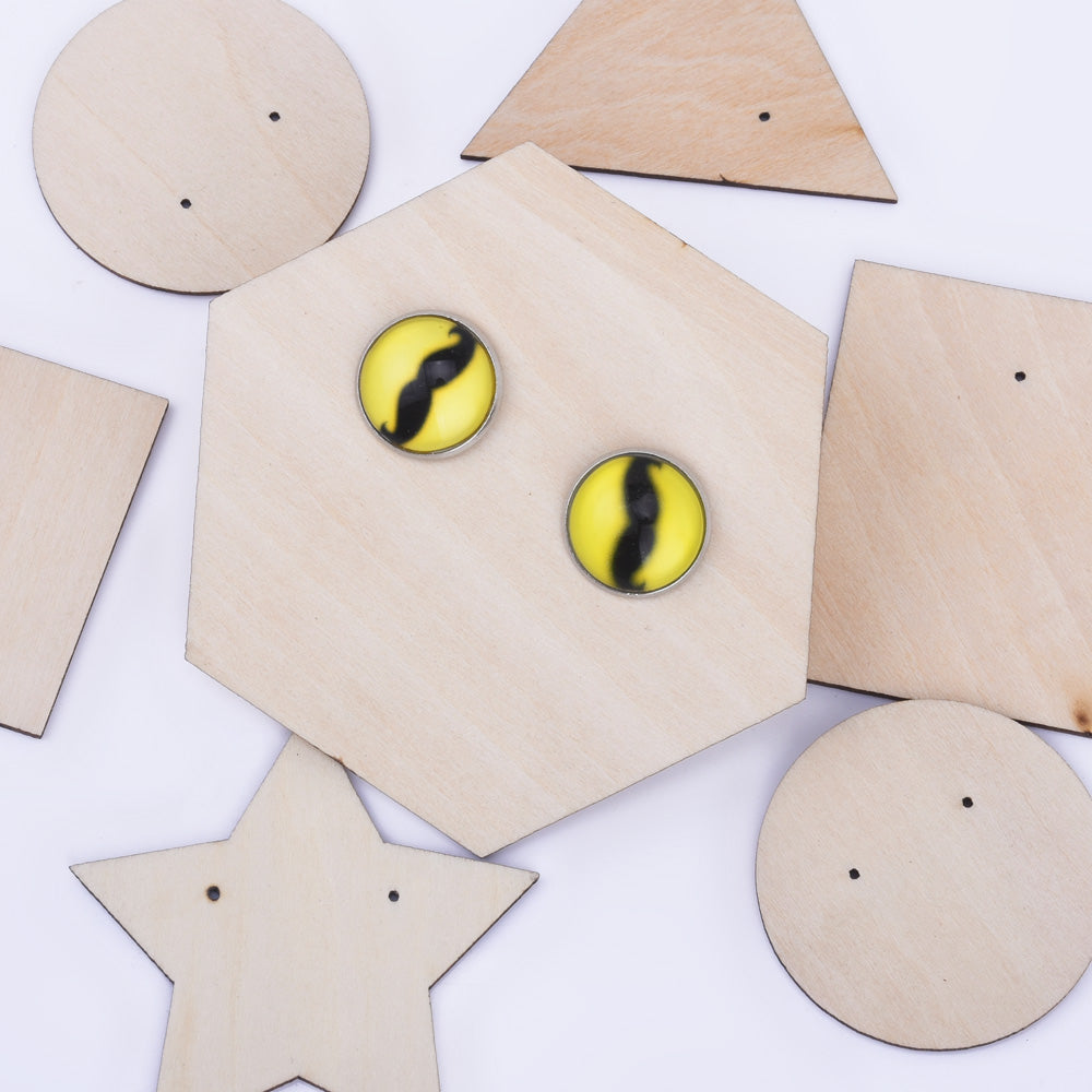 Wooden Earring cards and display stud earring cards for Jewelry Display Packaging Earring Display 10pcs