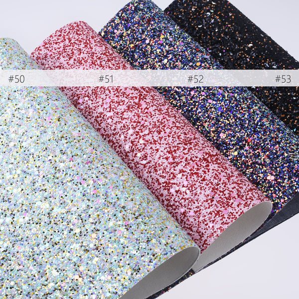 "8*12"" Special Glitter Faux vegan fake Leather sheets Glitter PU fabric Hair Bow Material 1pcs 102634"