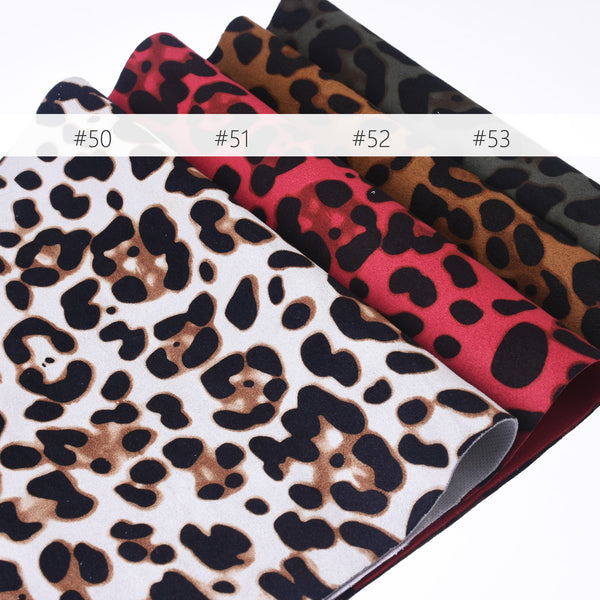"8*12"" Suede leopard print sheets leather print sheets animal print fabric DIY Hair Bow Making Supplies 1pcs 102640"