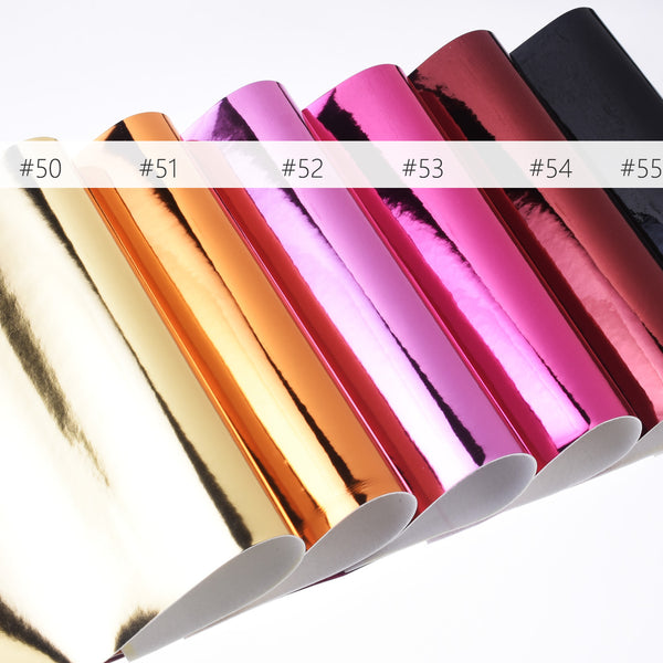 "8*12"" Mirror Faux leather sheets Synthetic Leather PU Leather Sheets Hair Bow Supplies 1pcs 102642"