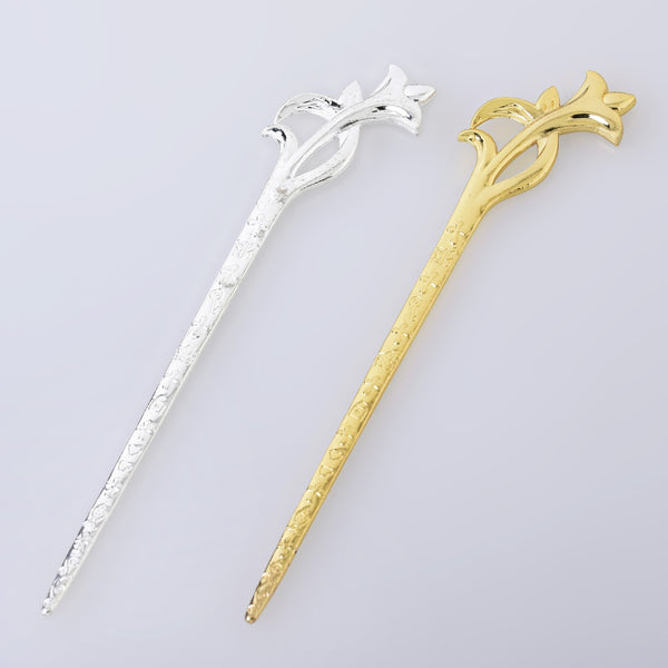 160*38*3mm Alloy hair stick metal flower hair stick bookmark for jewelry Women Hair Accessory 5pcs 102660