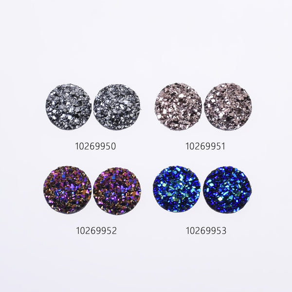 12mm Round Faux Druzy Resin Crystal Clusters Cabochons glitter resin cabochon diy Resin Jewelry wholesale 50pcs 102699