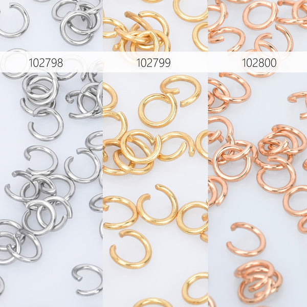 Stainless Steel Open Jump Rings 3/3.5/4/5/6mm Split Rings 0.6mm Thick Jump Rings Findings For Jewellery Making 500pcs