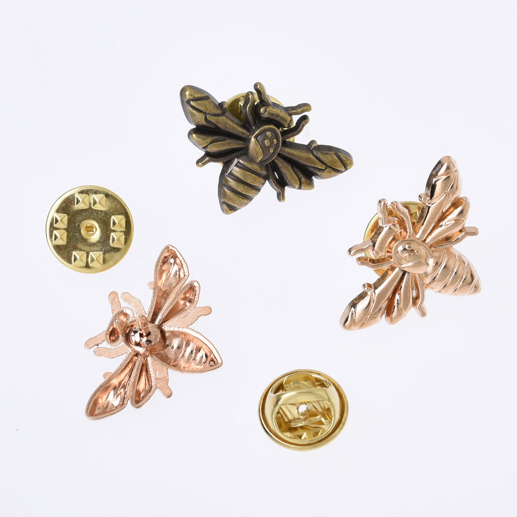12*26mm Alloy Bee collar pins collar brooch Vintage Insect brooch lapel pin bee brooch insect jewelry 10pcs 102717