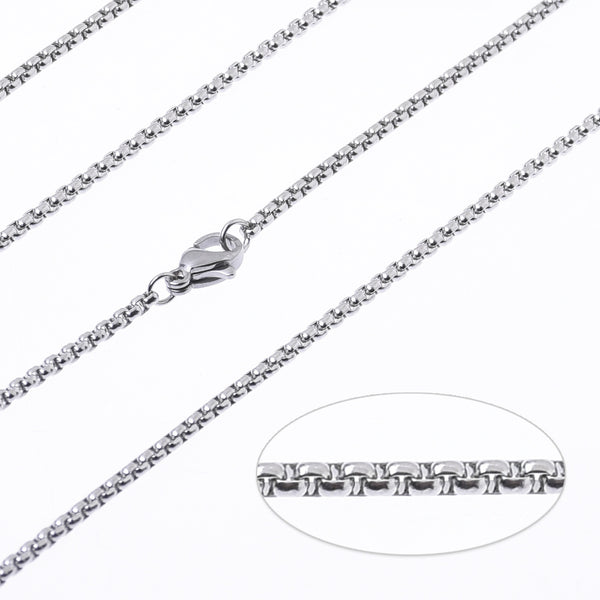 "18""/20""/24"" Stainless steel Chain Necklace 2mm link width Finished chain with Lobster Clasp Minimal Jewelry 10pcs 102731"
