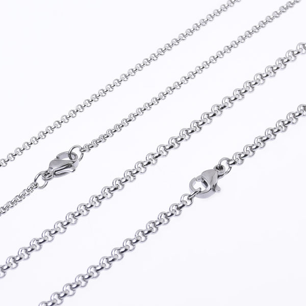 "20""/24""/30"" Stainless steel Chain Necklace 2/3mm link width handmade chain Minimalist Necklace 10pcs 10273"