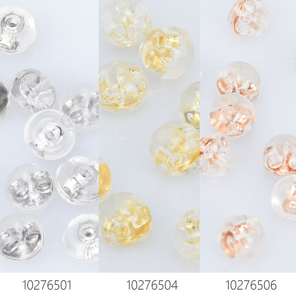 4*5mm High Quality Earring Back Stoppers Silicone Ear Stud Back Stoppers Silver/Golden/Rose Gold Safety Backs 10pcs 102765