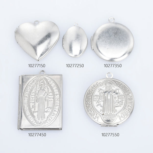 Stainless Steel High Quality Locket Pendant Charm Photo Frame Charm for Locket Necklace 5pcs 10277