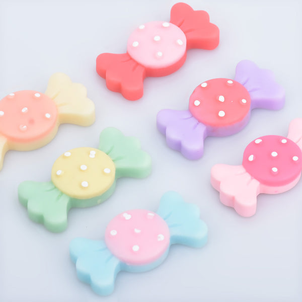 32*15mm Flatback Resins Kawaii Cabochons Candy Polymer Clay Slime Charms Diy Hair accessories 20pcs 102805