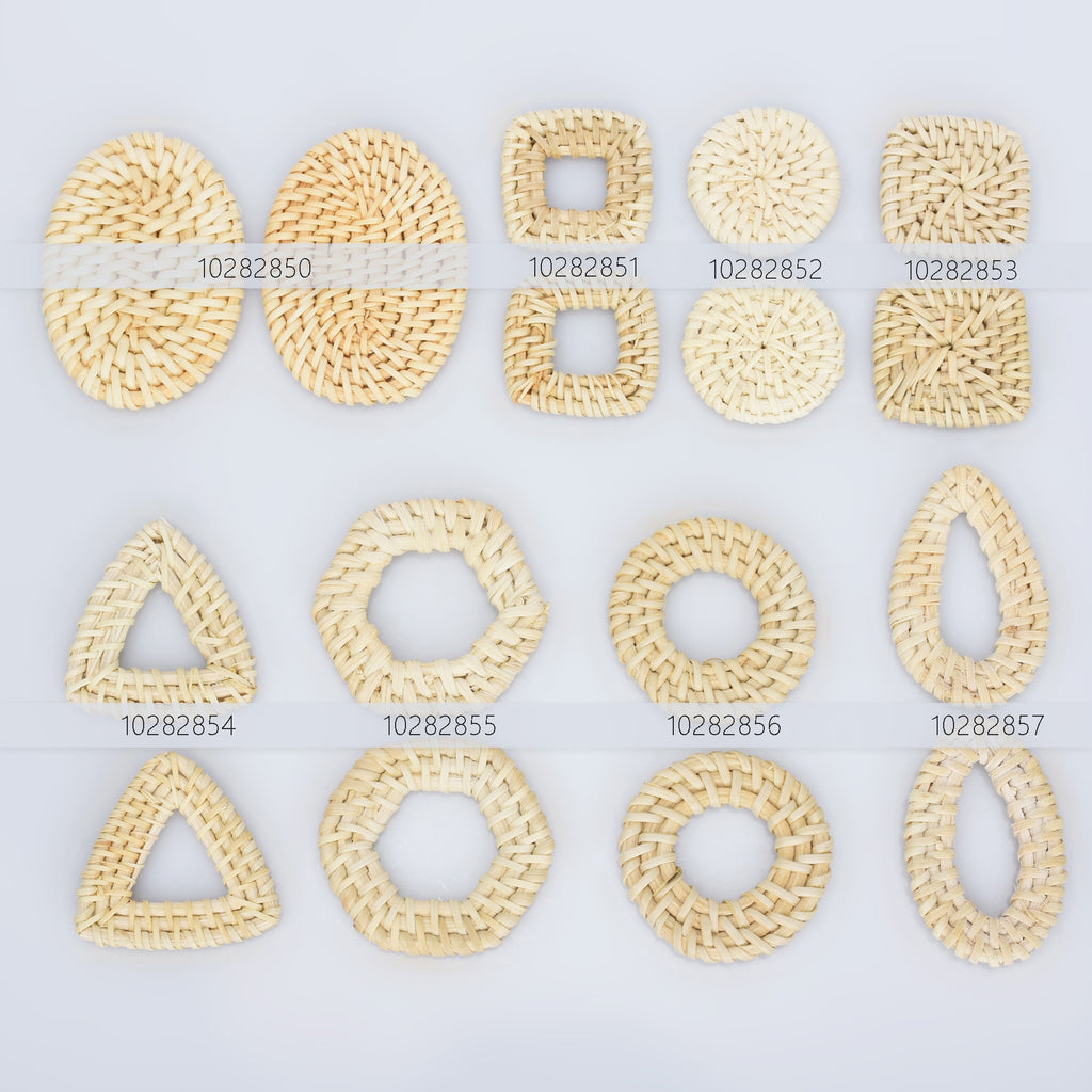 Round Wood Earring Hoops Natural Rattan Accessories 27mm 1 18 Wooden Charms Handwoven Circle Findings Woven Boho Jewelry Making Blanks