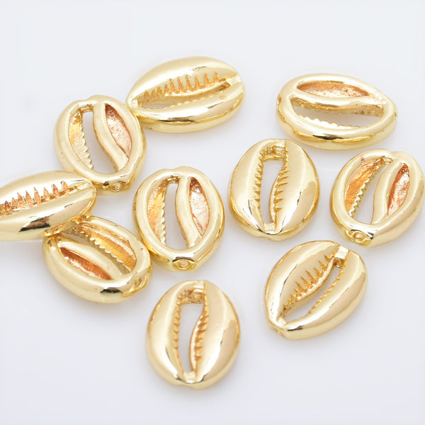 10*15mm Brass Cowrie Shell shape Beads spacer beads 0.5mm hole Brass Beads Unusual Beads 5pcs 10283404