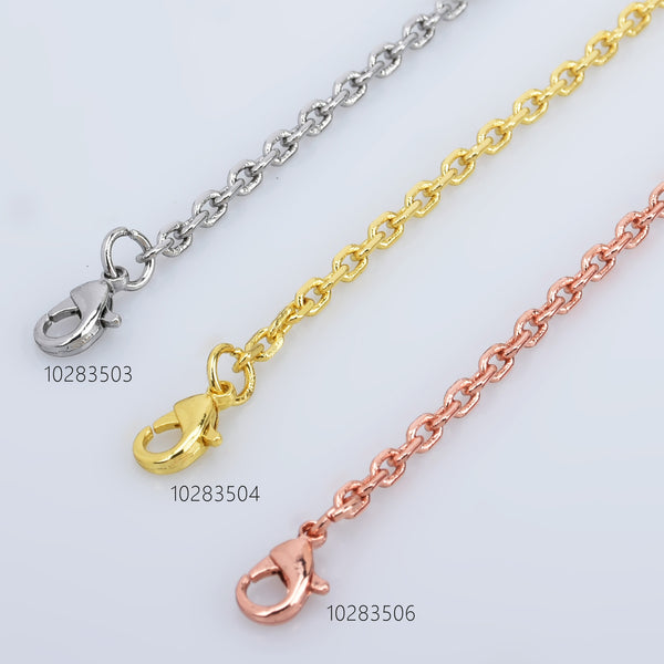 "7"" Brass Bracelet chain With Extension Chain Charm Bracelet Chain Wholesale Chain bracelet 5pcs 102835"