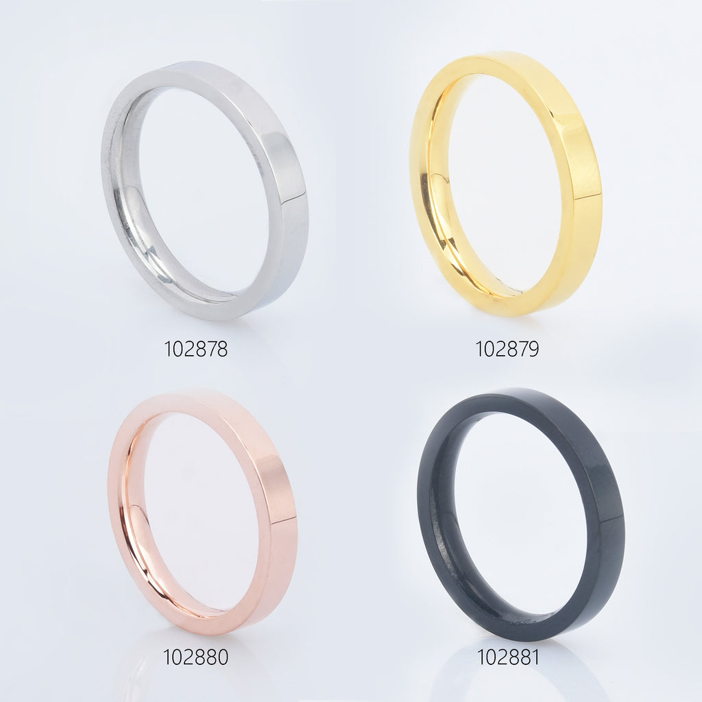 Titanium Ring Blank Stainless Steel Ring 3mm width Ring Base Jewelry Findings pick the color/size 1pcs 1028