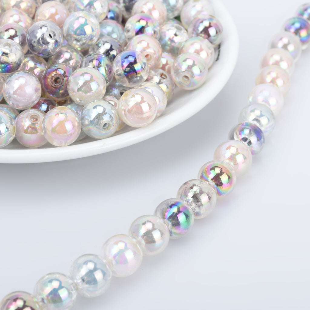 12mm Acrylic Round Beads Translucent Pastel Beads Kawaii Acrylic Beads Random mixed 50pcs 10289550