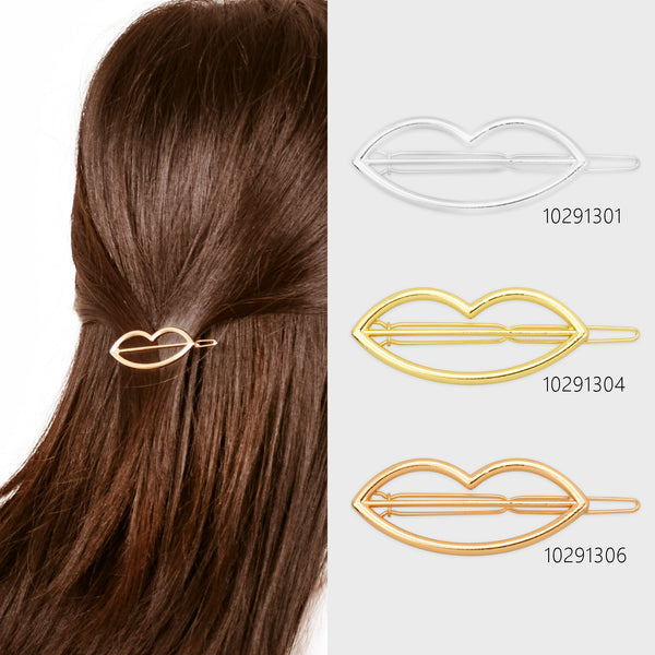 "3/4""*2"" Alloy Lip Hair Clip hair slide clip Minimalist Hair Barrette Geometric Hair Accessory 5pcs 102913"