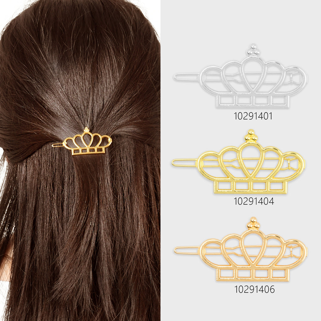 "1""*1 3/4"" Alloy Crown hair clip Hair Jewelry Geometric Hairpin Hair Barrette Hair Accessory Hair Accessory Supply 5pcs 102914"