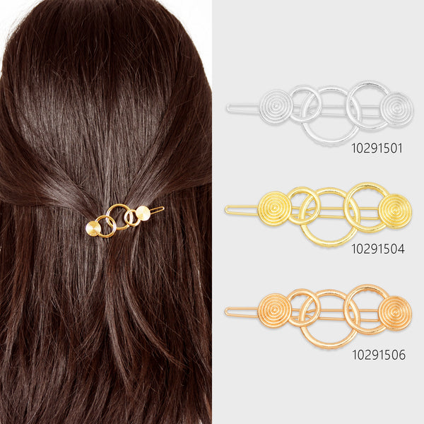"7/8""*2 1/8"" Alloy Geometric Hair Clip Minimalist Hair Accessory Circle Hair Clip Barrette Hair Slide 5pcs 102915"