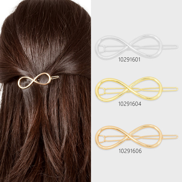 "3/4""*2 1/8"" Alloy Geometric Hair Clip Barrette Hairpin Hair Slide Minimalist Hair Accessory 5pcs 102916"