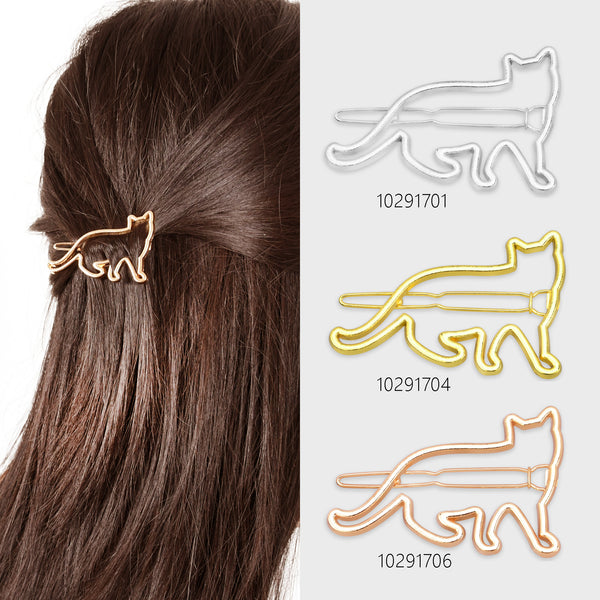 "1 1/4""*2 "" Alloy Cat Hair Clip Cat Clip geometric Hair Pin diy Hairstyle hair accessory Minimalist Jewelry 5pcs 102917"