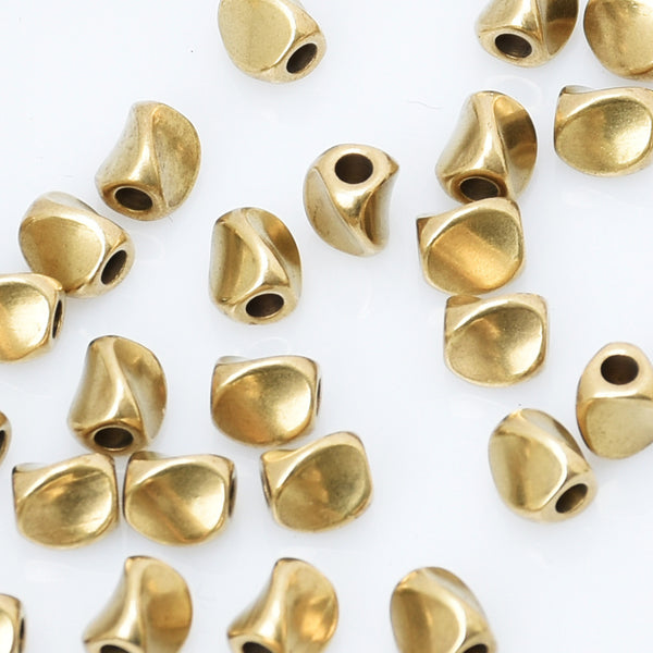 5*1.5mm Spacer Beads Face Twist Triangle Metal Beads Brass Beads Spacer Loose Jewelry beads 100pcs 10294950