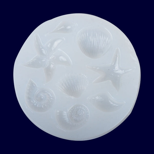 80*80mm Ocean Series Silicone Mold seashell Conch Starfish DIY silicone mold for Decoration 1pcs 10297550