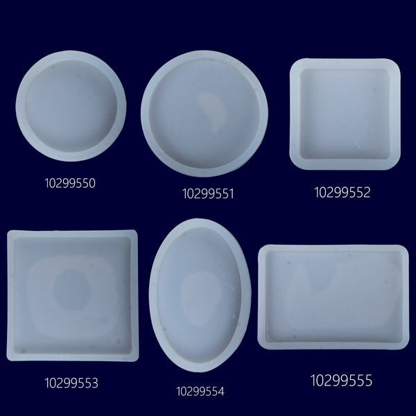 Concrete Coaster Silicone Mold Round Oval Square rectangle Flexible Silicone Mold DIY Crystal Jewelry Clay Mold 1pcs 102995