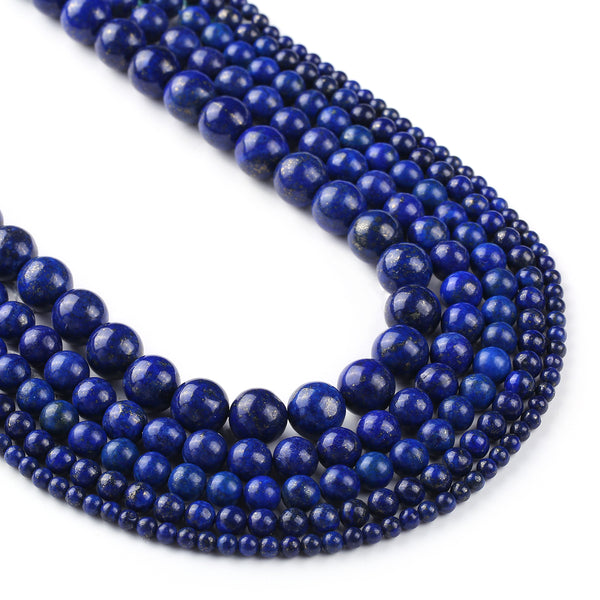 "Color Dyed Lapis Lazuli Stone Beads 4 6 8 10 12mm Gemstone Round Loose Beads Wholesale 15"" Full Strand 103095"