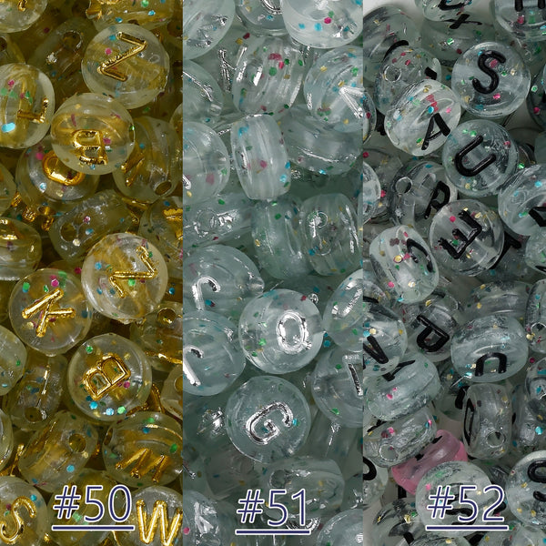 7mm Acrylic Alphabet Letter Beads Name beads Letter A-Z Round Beads Random mixed 100pcs/bag 103122