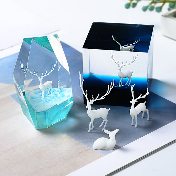 Mini 3D elk Model for Silicone Mold Landscape Filler DIY Jewelry Filling Decoration Accessories 1pcs 103185