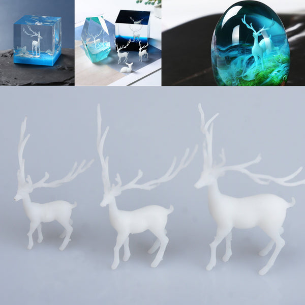 Mini 3D elk Model Mini Elk Filler Mold Crafts Filler DIY Accessories Forest Micro-landscape Filler 1pcs 103186