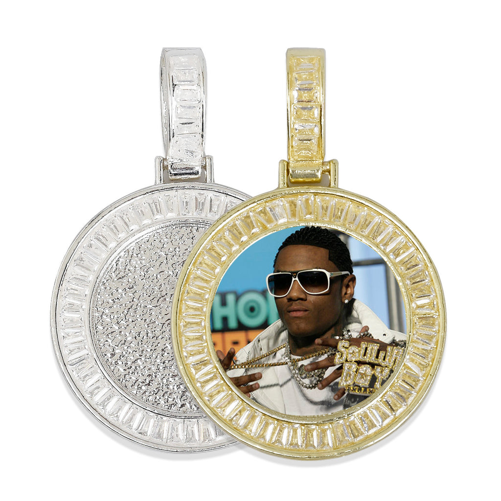 1inch 25mm Hip Hop Pendant, Real Gold Plated Zinc Alloy Pendants, Zircon Setting For Cabochon 2 pieces/lot 103280