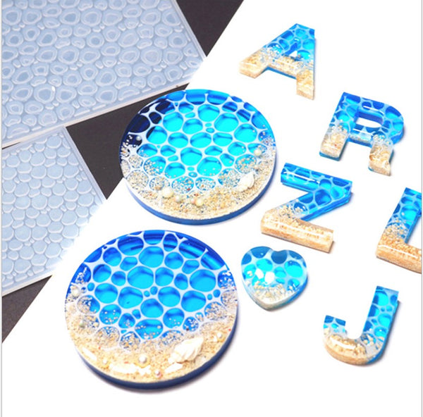 1PCS Creative Water Ripple Silicone DIY Ocean Wave Resin Mold For Home Decoration 103296