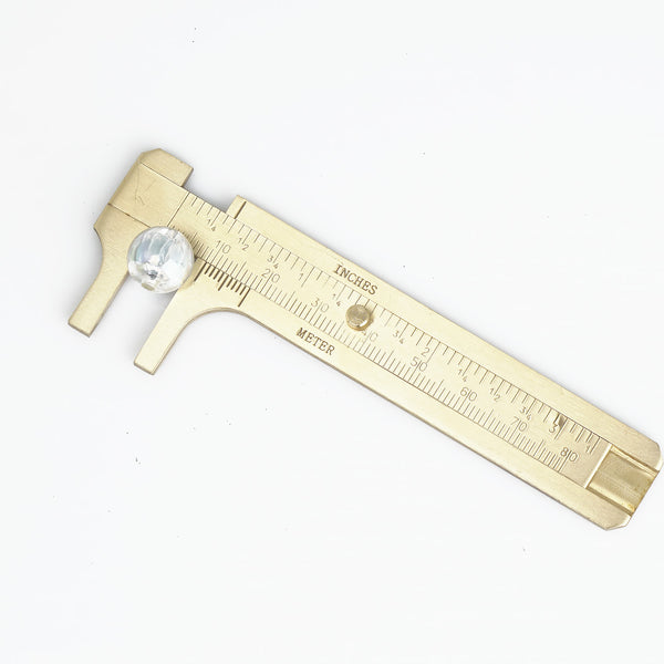 80mm Mini Brass Caliper With Dual Scales Outdoor EDC Tool Measuring Ruler Retro Pure Copper Brass Caliper 1pc 10334551