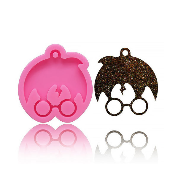 1 piece Harry Potter Mold Silicone Keychain Mold DIY Ornaments Molds For Boy's Gift 10336550