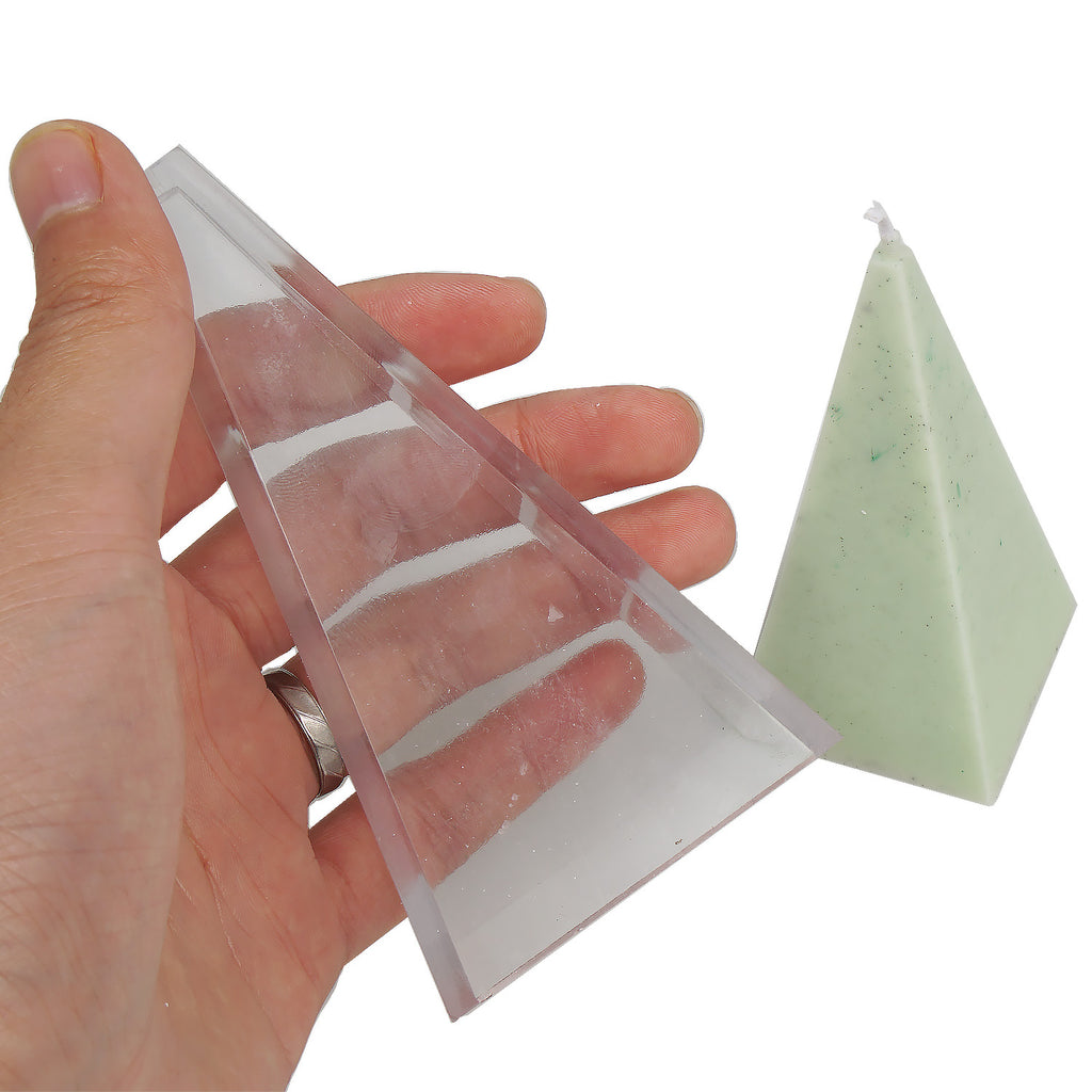 1 PCS Plastic Candle Mold, 3D Pyramid Shape Candle Mold, DIY Aroma Candle Mold for Wax 10362150