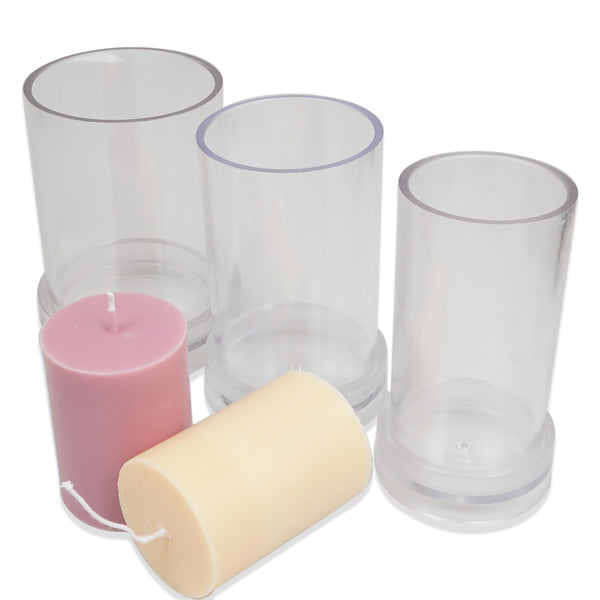 1 PCS Plastic Candle Mold, Cylinder Shape Candle Mold, DIY Candle Mold for Wax multiple sizes 103623