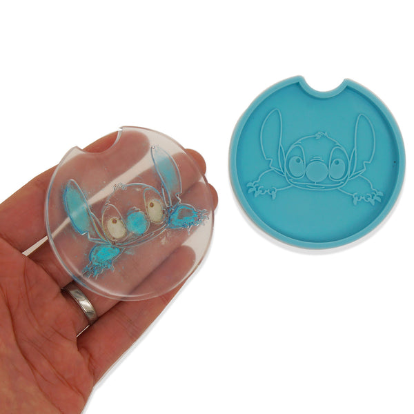 1 piece Blue Silicone Coaster Mold Cartoon Pattern Coaster Molds DIY Hand Craft Gift 10364153