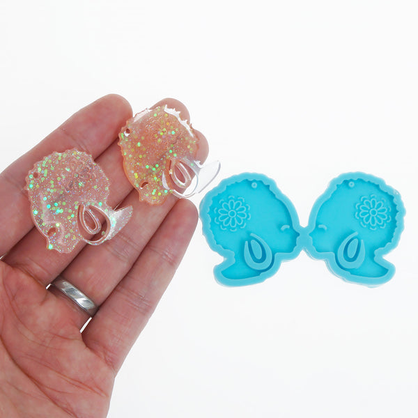 New Blue Silicone Earring Mold Beautiful Lady Earring Stud DIY Resin Earrings 10369752