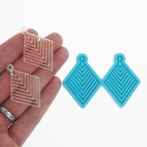 Silicone Geometric Earring Mold Resin Earring Stud DIY Resin Earrings 10369753