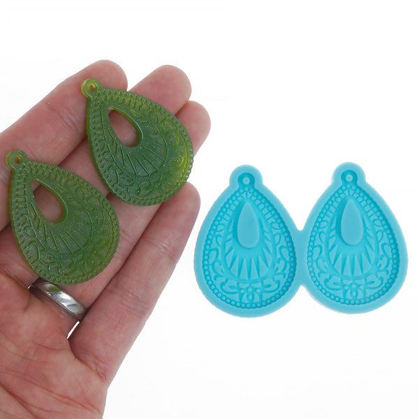 Silicone Teardrop Earring Mold Resin Jewerly Earring Stud DIY Resin Earrings 10369755